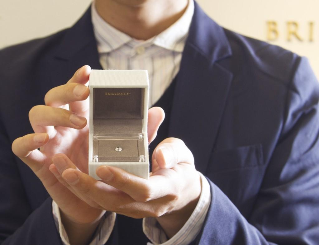 ダイヤモンドでプロポーズ??の画像