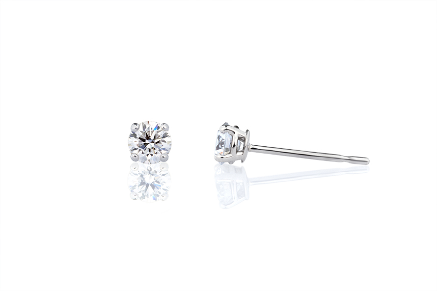 希望のダイヤモンドを選んで、一粒ダイヤモンドピアスをつくるの画像
