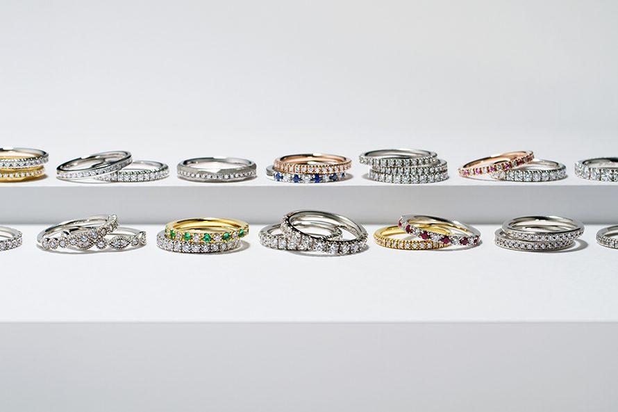 婚約指輪と結婚指輪としてのエタニティリングの画像