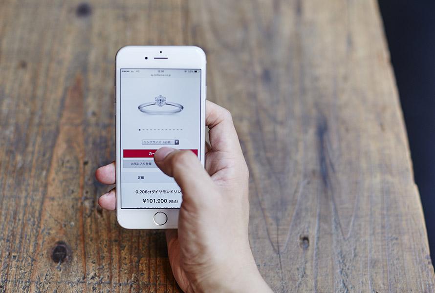 スマホで婚約指輪,結婚指輪を探す人が増加中の画像