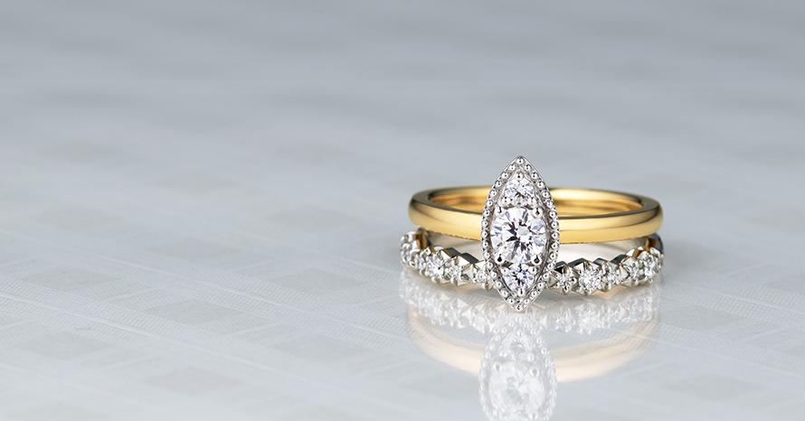 アンティーク調のリング・婚約指輪・結婚指輪の画像