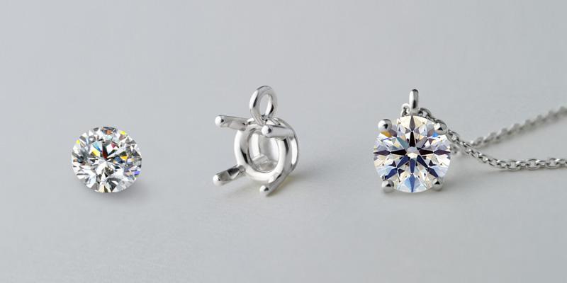永遠の愛の証としてのダイヤモンドネックレスの画像